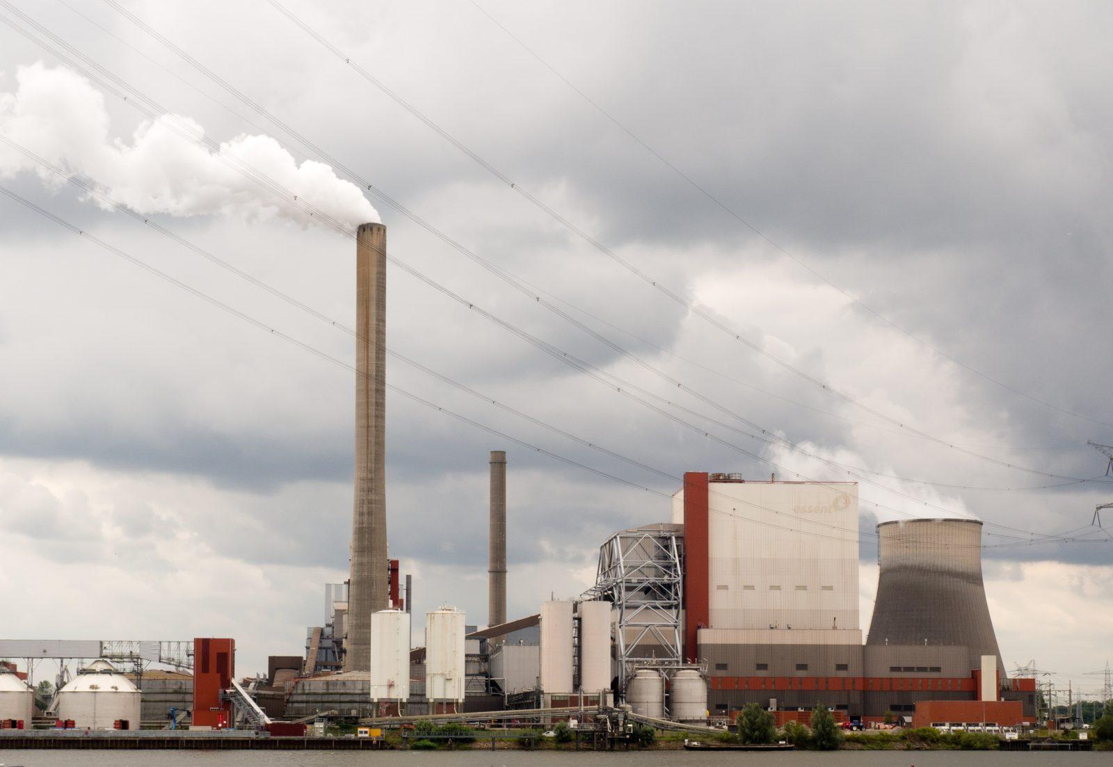 nuclear power plant under cloudy sky