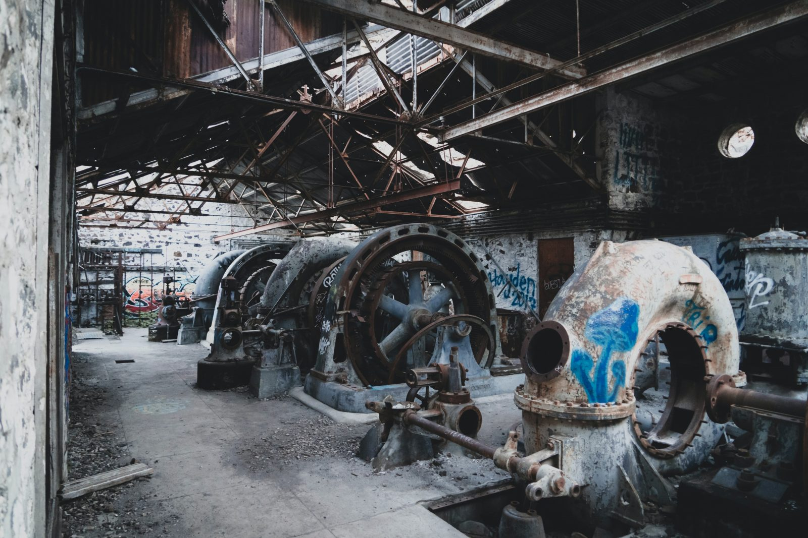 abandoned industrial building interior